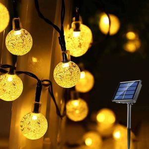 Solar String Lights Waterproof 60LED Fairy Lights 8 Modes Outdoor Starry Lights Solar Powered String Light for Garden Yard Home Party Wedding Decoration
